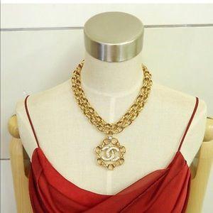Chanel Vintage gold plated CC Rhinestones.